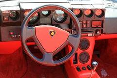 Classic lamborghini cabin interior Stock Photo