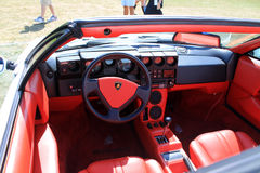 Classic lamborghini cockpit interior Stock Photography
