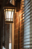Classic lamp. On brick wall stock photos