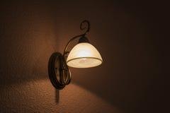 Classic lamp shines white light Stock Image