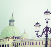 Classic lamppost in Venice in vintage tone Stock Photo
