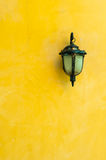 Classic Lantern on yellow wall Royalty Free Stock Photos