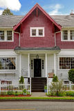 Classic large craftsman old American house exterior. Stock Photos