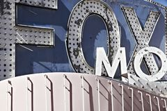 classic Las Vegas signs – the neon sign stock images