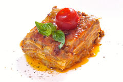 Classic lasagna bolognese Royalty Free Stock Photo