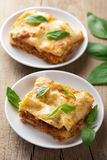 Classic lasagna bolognese Stock Photos