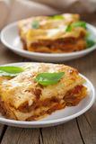 Classic lasagna bolognese Stock Photos
