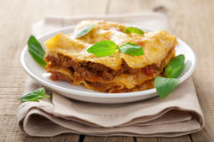 Classic lasagna bolognese Stock Photography