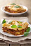 Classic lasagna bolognese Stock Photo