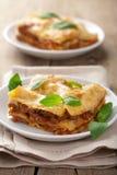 Classic lasagna bolognese Stock Photo
