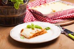Classic lasagna bolognese Stock Image