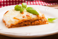 Classic lasagna bolognese Royalty Free Stock Image