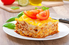 Classic Lasagna with bolognese sauce Royalty Free Stock Photography