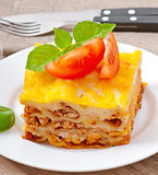 Classic Lasagna with bolognese sauce Royalty Free Stock Images