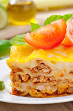 Classic Lasagna with bolognese sauce Royalty Free Stock Photo