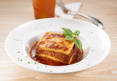 Classic Lasagna Royalty Free Stock Photography