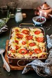 Classic Lasagne Bolognese royalty free stock photography