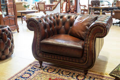 Classic leather armchair Royalty Free Stock Photo