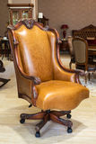 Classic leather armchair Royalty Free Stock Photography