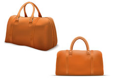 Classic Leather Bag Set Royalty Free Stock Photography