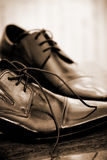 Classic leather men's shoes Royalty Free Stock Photo