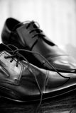 Classic leather men's shoes Royalty Free Stock Photography