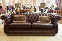 Classic leather sofa Royalty Free Stock Images