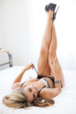 Classic leg Boudoir pose Royalty Free Stock Photography