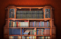 Classic library. Antique Furniture. And books Royalty Free Stock Images