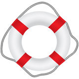 Classic lifebuoy Stock Photos