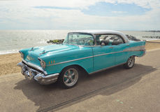 Classic Light Blue Chevrolet Belair Royalty Free Stock Images