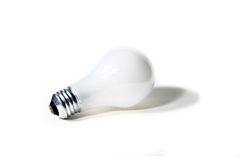 Classic Light Bulb Isolated on a White Background Stock Images
