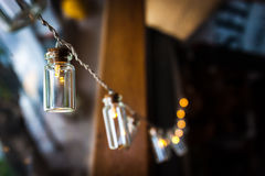 Classic light bulb lamps decor Royalty Free Stock Photos