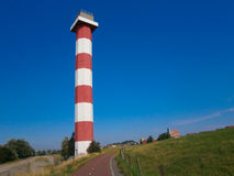 Classic lighthouse at Europoort Royalty Free Stock Images