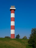 Classic lighthouse at Europoort Stock Images