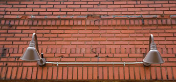 Classic Lights And Old Brick Royalty Free Stock Images