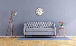 Classic lilac living room Stock Photography