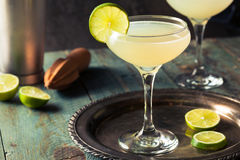 Classic Lime Daiquiri Cocktail. With a Garnish stock photography