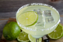 Classic Lime Margarita Drinks Stock Image