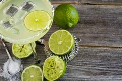 Classic Lime Margarita Drinks stock photos