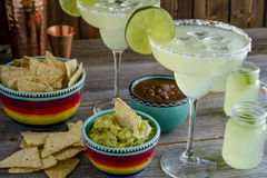 Classic Lime Margarita Drinks stock photo