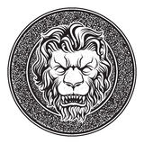 Classic Lion Doorbell Stock Photos