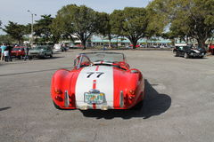 Classic little red racing car Royalty Free Stock Images