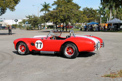 Classic little red sports car Royalty Free Stock Images