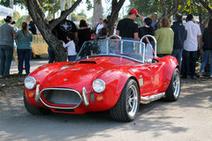 Classic little red sports car Stock Images