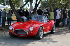 Classic little red sports car Royalty Free Stock Photography
