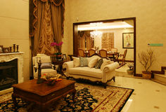 Classic living room. In a luxury villas Stock Photography