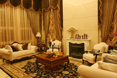 Classic living room. In a luxury villas Royalty Free Stock Image