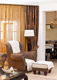Classic living room. Interior design series: classic living room Royalty Free Stock Images