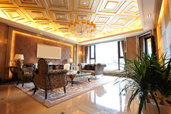 Classic living room. In a luxury mansion Royalty Free Stock Photos